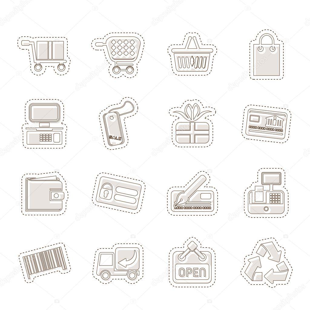 einfache online-Shop Symbole — Stockvektor © stoyanh #11171661