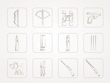 Hunting and arms Icons