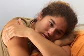 smutná dívka Peruánský