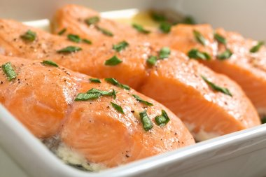 Baked Salmon in Casserole