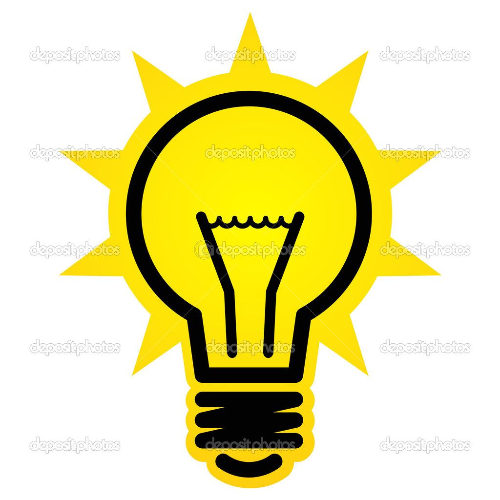 Shining light bulb icon — Stock Vector © furtaev #11759704 for Bright Light Bulb Clipart  186ref