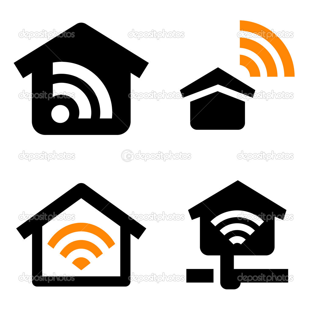 house wireless network u2014 stock vector furtaev 11880955