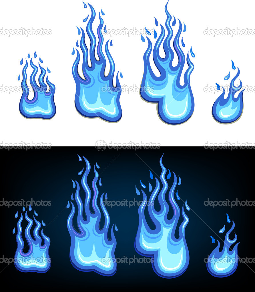 Gas flame set