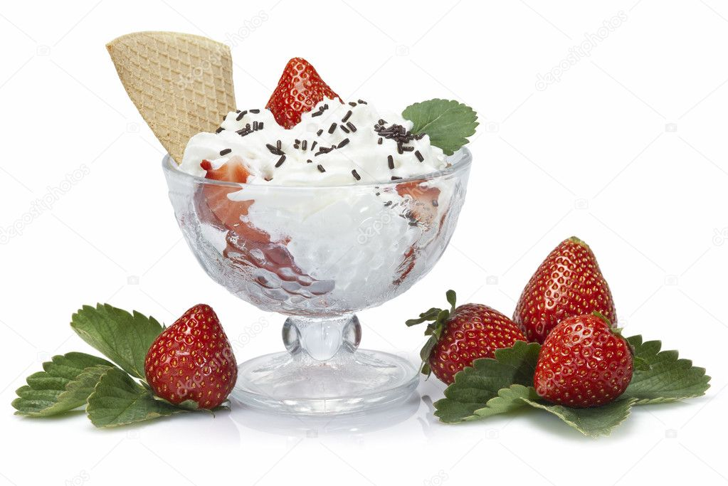 Strawberries and whipped cream