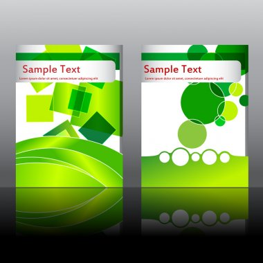 Set of elegant, green flyer design