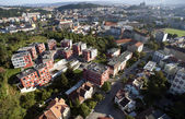 Photo Highly detailed aerial city view, Spilberk Castle, Cathedral