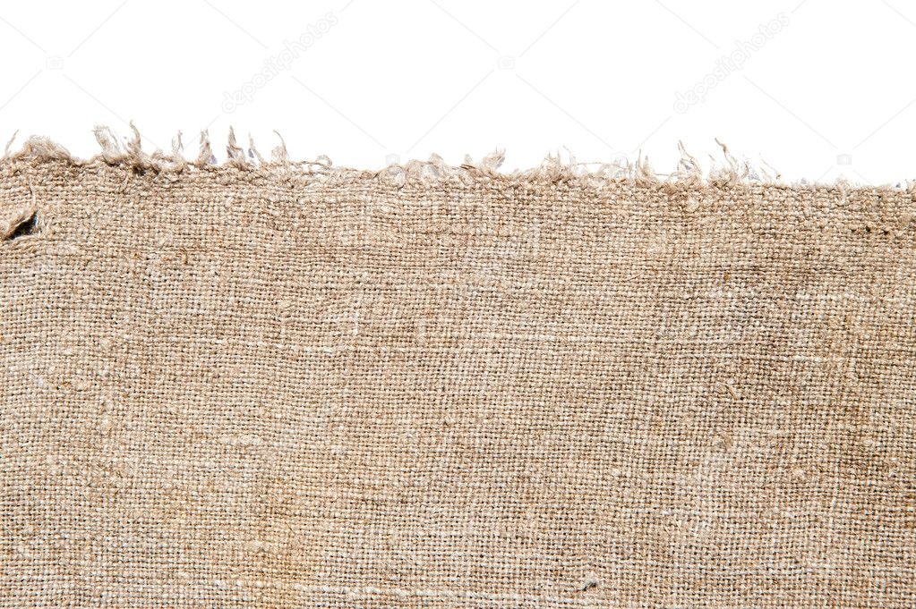 Old canvas edge fabric texture