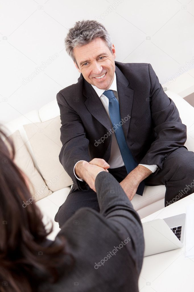 Mature businessman at the interview