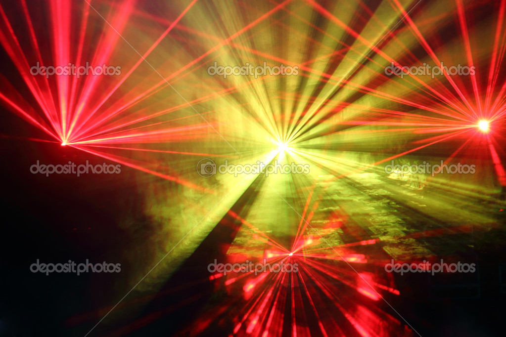 Disco and laser show