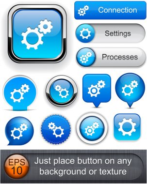 Controls high-detailed web button collection.
