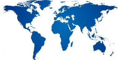 Blue world map.