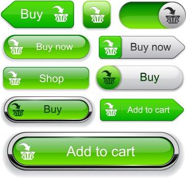 Add to cart high-detailed modern buttons.