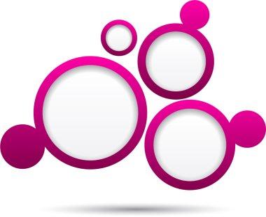 Web bubble background.