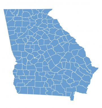 State map of Georgia by counties
