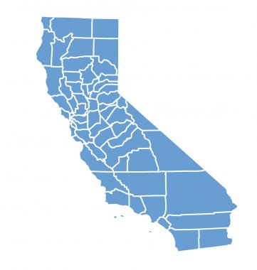 State map of california by counties