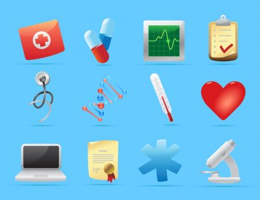 Icons for medicine. Vector illustration. clip art vector