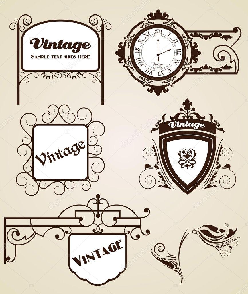 marcos clásicos de elegancia para tu texto — Archivo Imágenes ...