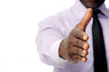 Business handshake black