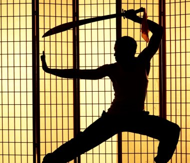 Swordsman silhouette