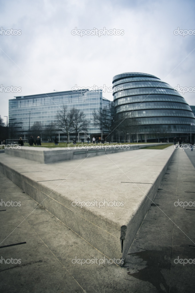 Modern Architecture Uk londons town hall building modern architecture uk — stock photo