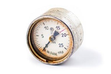 An old rusty gauge