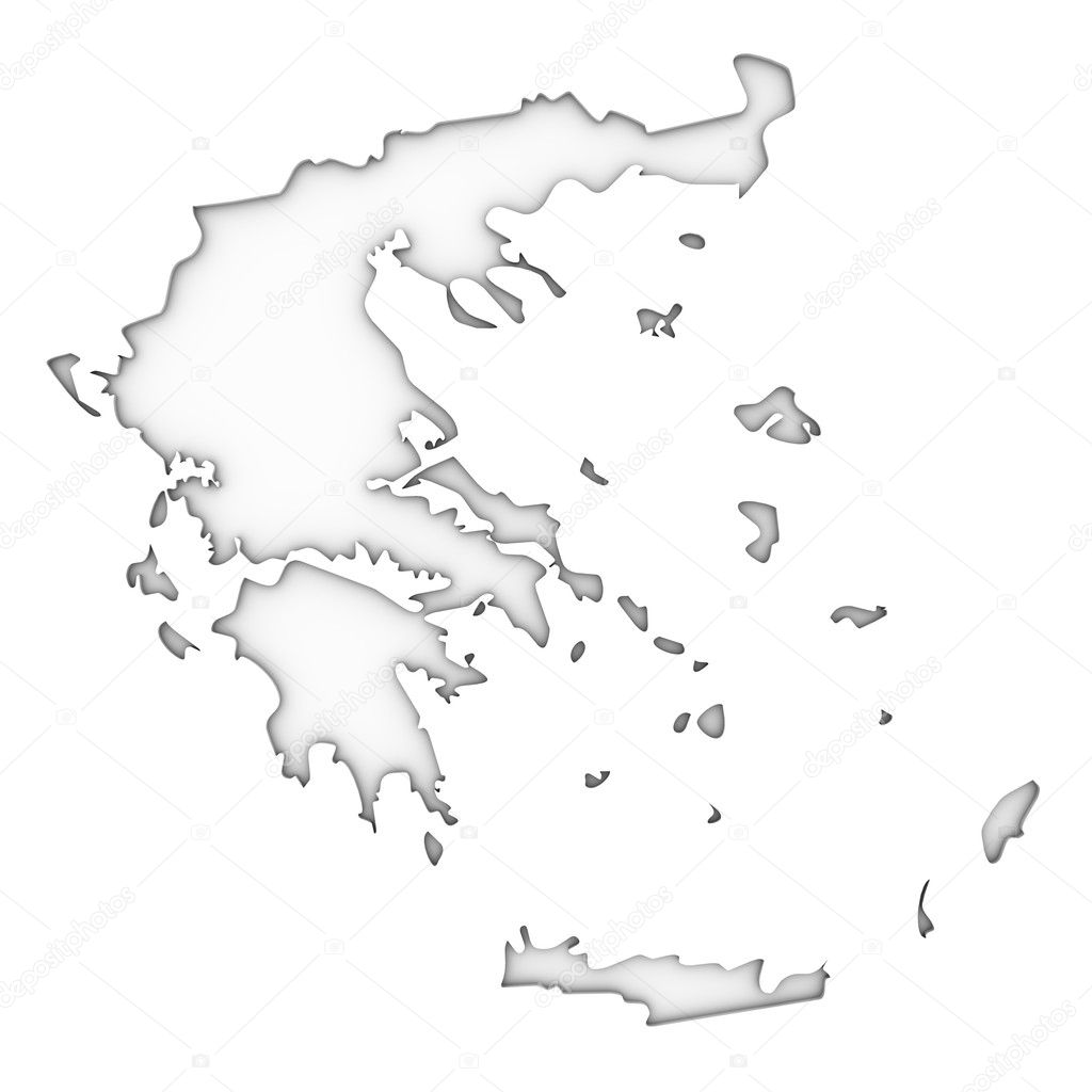 how to draw greece map