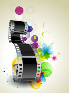 Stylish abstract film on abstract background stock vector
