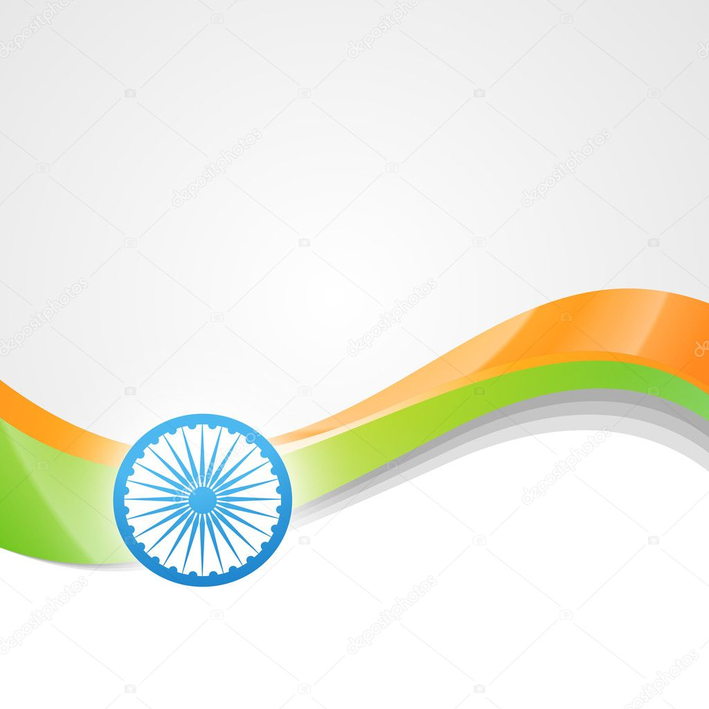 vector indian flag design art