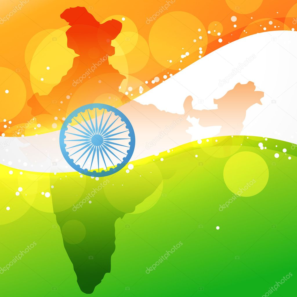 vector indian map with flag design stock vector pinnacleanimate 11948016