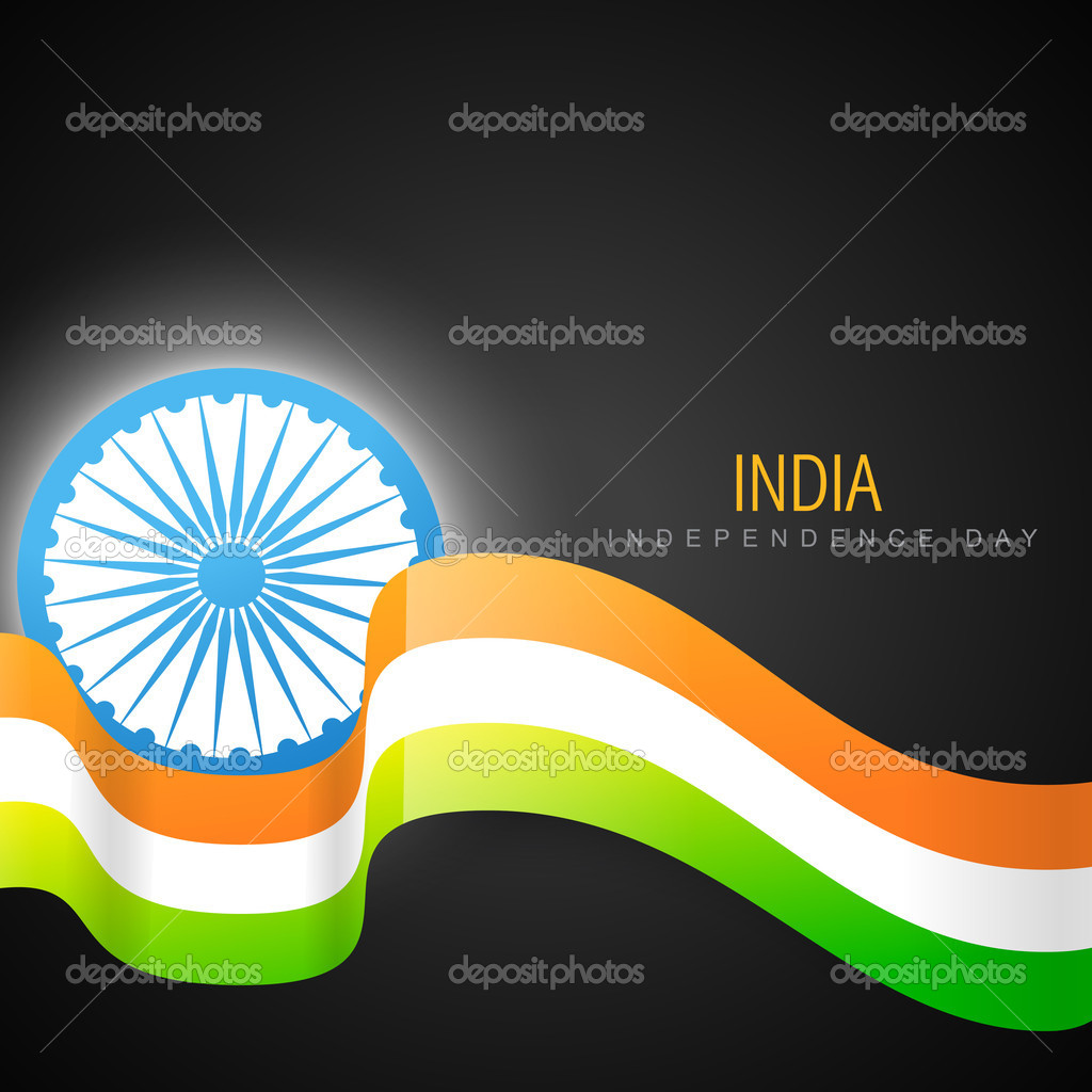 shiny indian vector flag design
