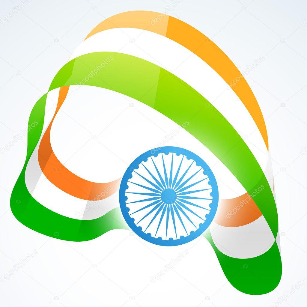 stylish indian flag design