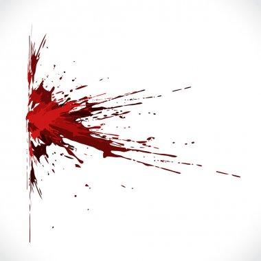 Vector blood shot grunge background stock vector