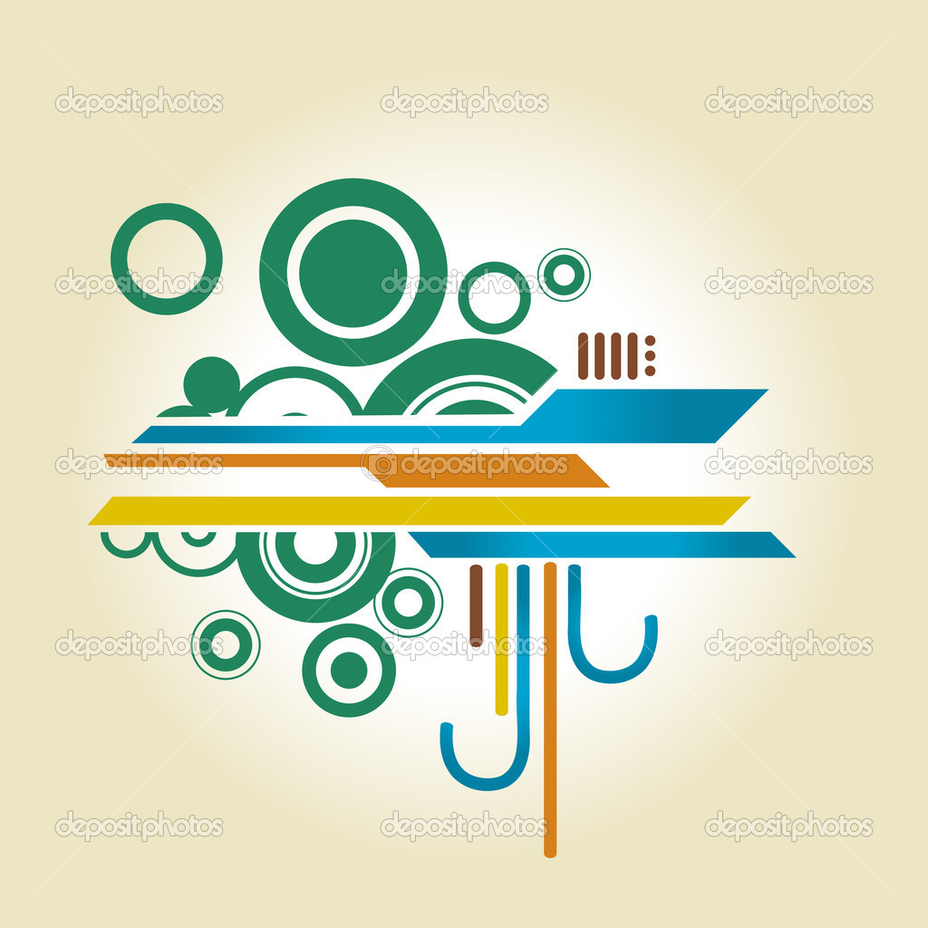 Abstract Shapes Design Stock Vector C Pinnacleanimate