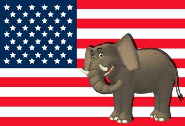 Happy Republican Elephant