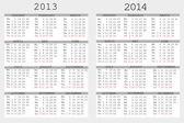 Fotografie sada 2013 a 2014 kalendář pro váš notebook