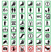 Photo International signs used in tranportation means