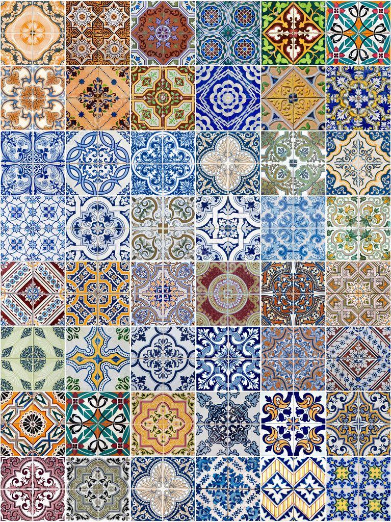 Keramikfliesen  Keramikfliesen Muster festlegen — Stockfoto #11183628