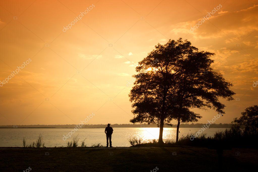 Man Alone at Water