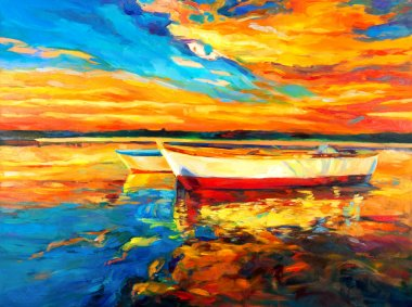 "Картина, постер, плакат, фотообои ""лодки в океане"", артикул 12064097"