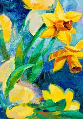 """Картина, постер, плакат, фотообои """"Нарцисс Цветы"""", артикул 12388283"""