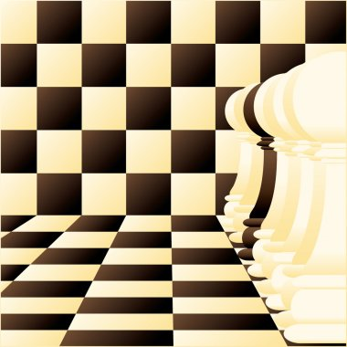 Abstract vector background with a Individual chess pawn
