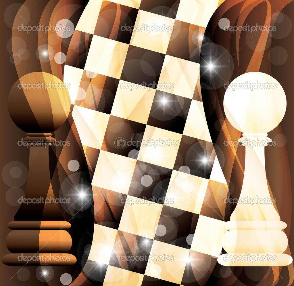 Abstract chess vector banner