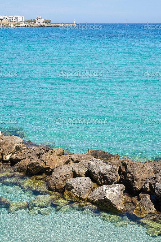 Panoramic view of Otranto. Puglia. Italy.