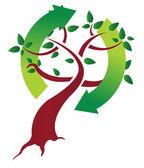 ekologické strom koncept ilustrace design nad bílá