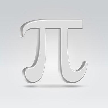 Silver 3,14 sign icon