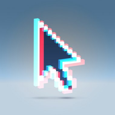 3d stereo effect arrow icon