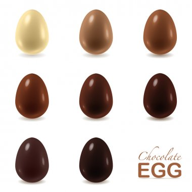 Chocolate eggs set