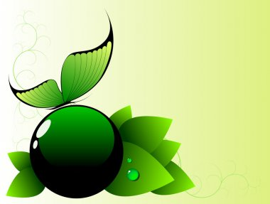 Green spring abstract background