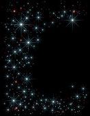 黒ベクトル蝶ネクタイのセットhvězdy nad noční obloha Dekorativní pozadí