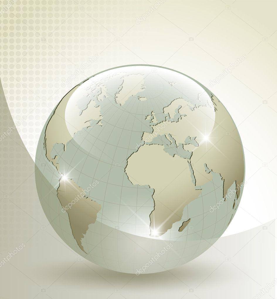 globe terrestre en verre 3d image vectorielle adigrosu 12184894. Black Bedroom Furniture Sets. Home Design Ideas
